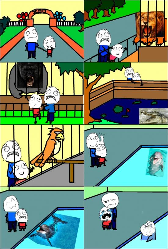 Kidding_me - Algo en este niño no está bien o sólo él es capaz de ver la maldad del delfín