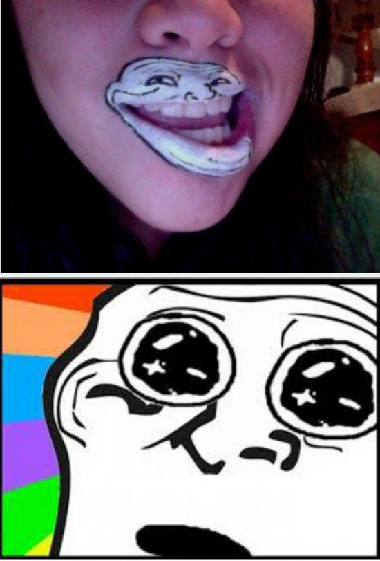 Trollface - Creo que Trollface se ha enamorado