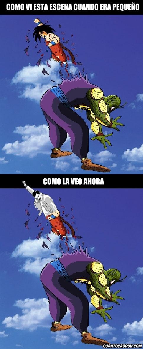 Freddie_mercury - La batalla de Goku contra Piccolo, antes y ahora