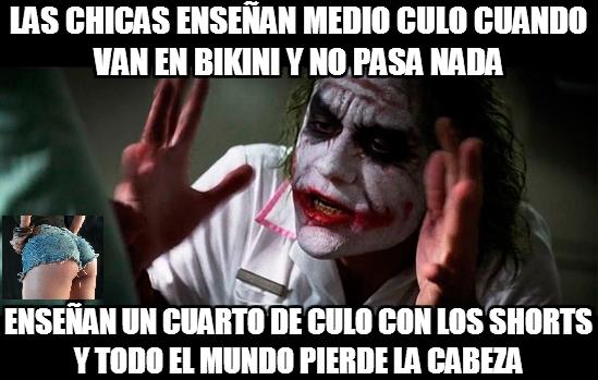 Joker - Con bikini no pasa nada pero con shorts...