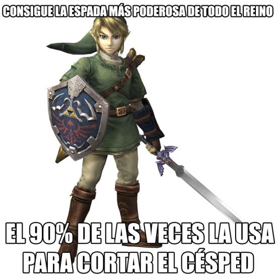 Meme_otros - Link y los usos de su espada