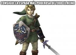 Enlace a Link y los usos de su espada