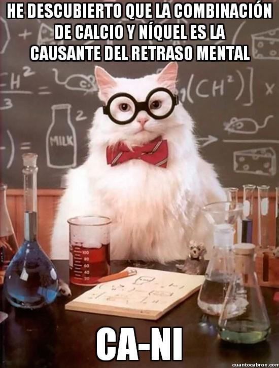 Gato_quimico - Nunca combines calcio y níquel, por el bien de la humanidad