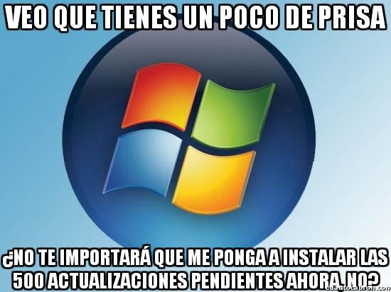 Meme_otros - Windows no entiende de prisas