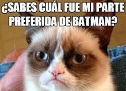 Enlace a La parte favorita de Batman para Grumpy Cat