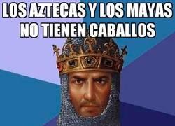 Enlace a Los aztecas y los mayas no tienen caballos