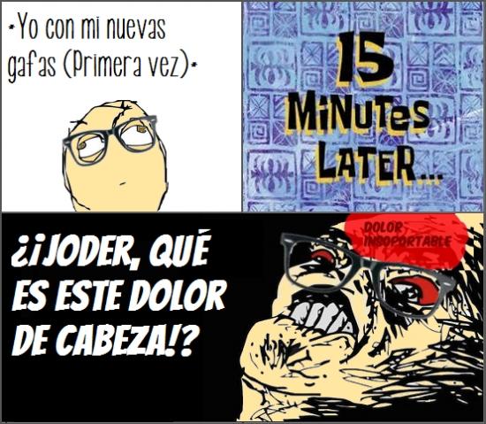 15 minutes later,Dolor,Gafas,Primera vez,Raisins