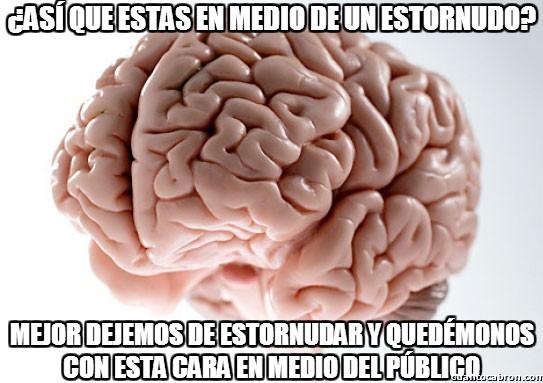 a medias,cara,cerebro,estornudo,interrumpir,publico
