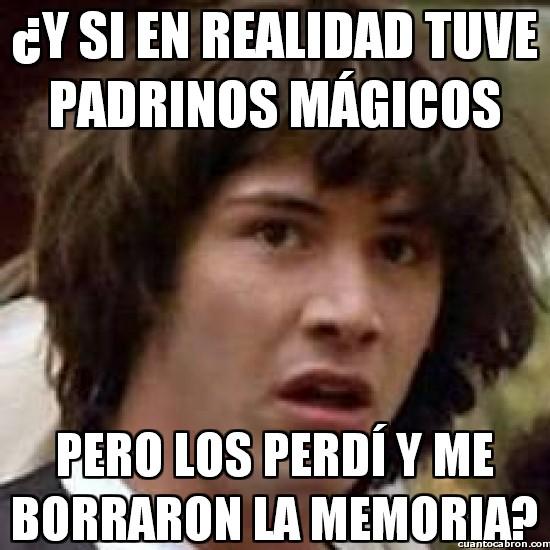 Meme_otros - Los padrinos mágicos de Keanu