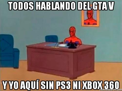 gta v,ps3,spiderman,videojuego,xbox 360,y yo aqui