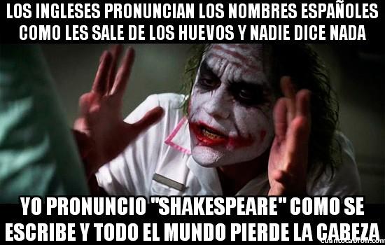 Joker - Pronunciación inglesa y española