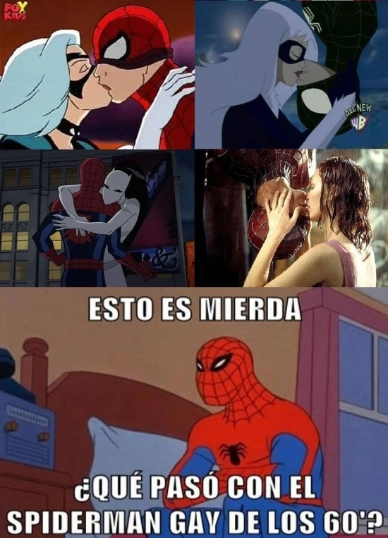 besar,beso,hombre araña,Spiderman