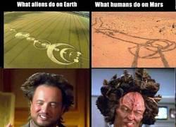Enlace a Humanos y aliens