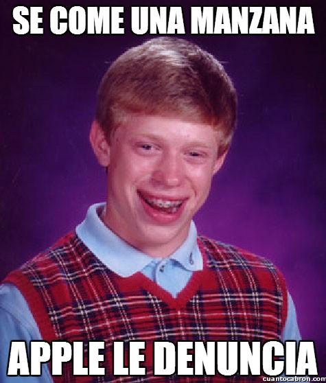Bad_luck_brian - Cuidado cuando comáis manzanas