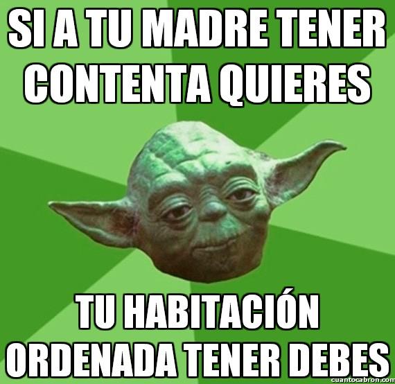 Consejos_yoda_da - Yoda sabe lo que se dice aunque su madre muriera hace ya varios siglos