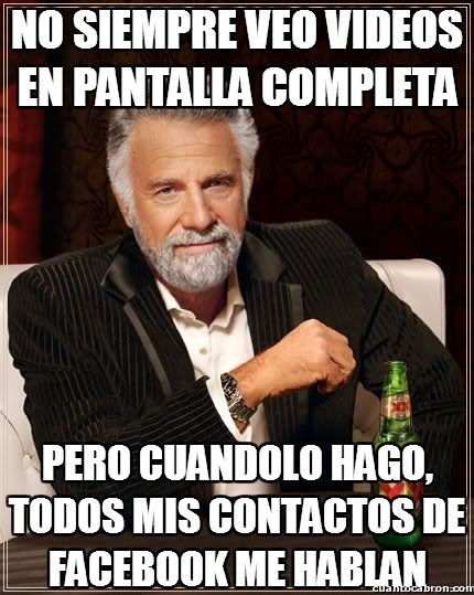 Chat,Contactos,Facebook,Hablar,Pantalla completa,Videos,Youtube
