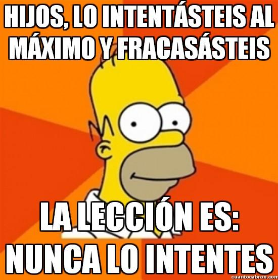 Meme_otros - Homer dando auténticas lecciones de vida