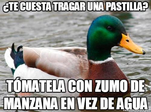 Pato_consejero - ¿Te cuesta tragar una pastilla?