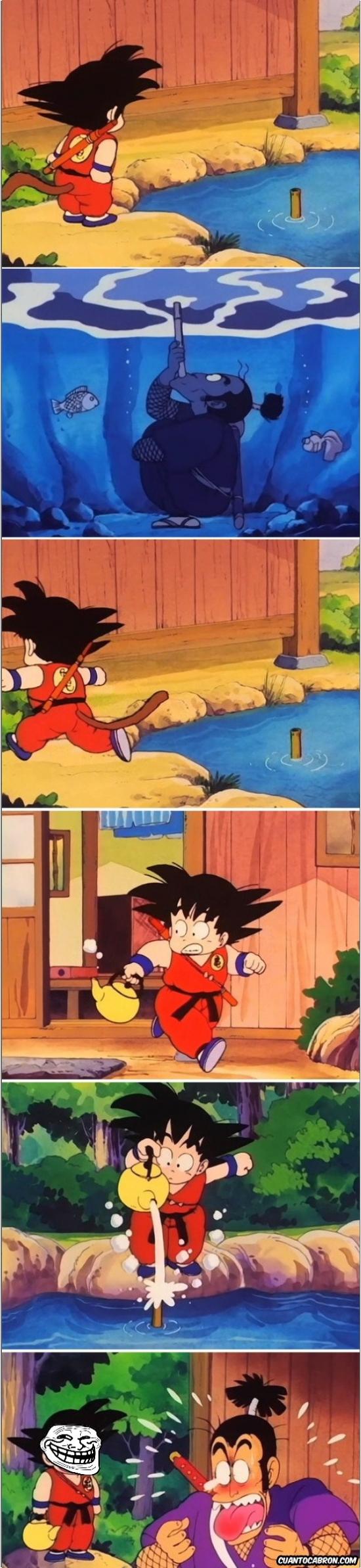Trollface - Goku es uno de los grandes trolls de la historia