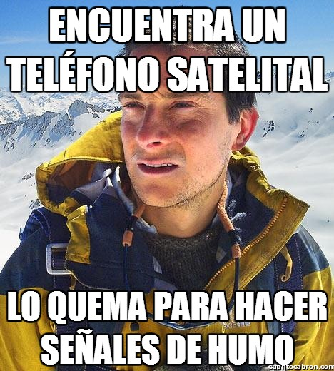 Bear_grylls - Encuentra un teléfono satelital