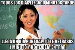 Enlace a La impuntual pero estricta profesora