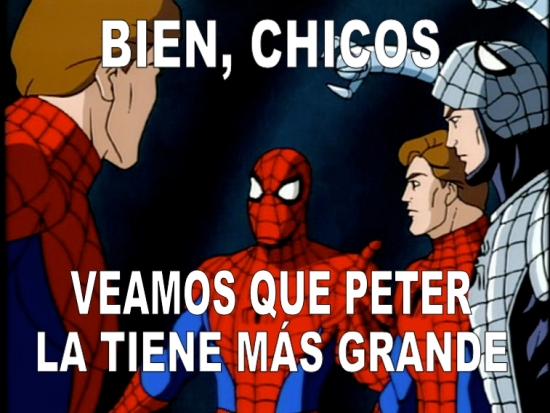 mas grande,Peter Parker,Spiderman