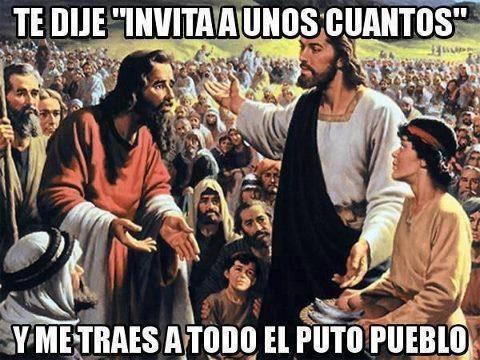 apostoles,fiesta,invitar,Jesús,todo el pueblo,unos cuantos,Yisus