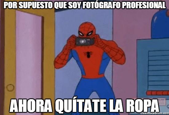 Spiderman60s - Por supuesto que soy fotógrafo profesional