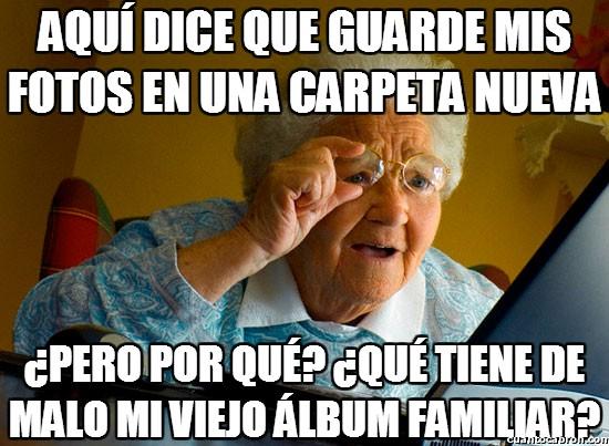 Abuela_sorprendida_internet - Con lo que le gustaba su viejo álbum familiar