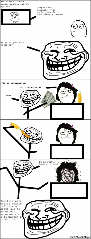 Trollface - Nunca más tendrás sed mientras compras