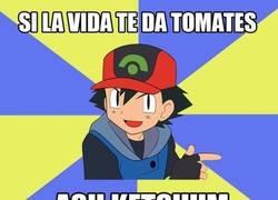 Enlace a Si la vida te da tomates, Ash Ketchum.