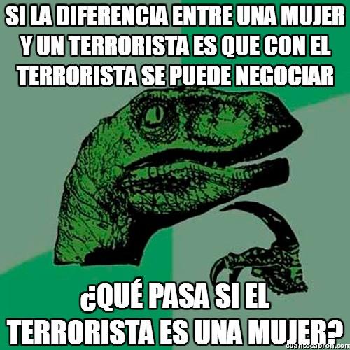 Philosoraptor - ¿Terroristas femeninas?