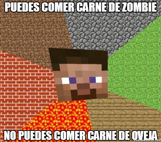 carne,comer,minecraft,oveja,zombie