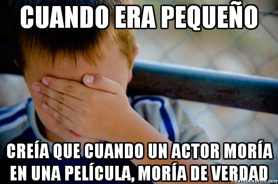 Confession_kid - ¡Oh no, ha muerto mi actor favorito!