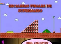 Enlace a No es tan sencillo no pensar en chocolate al final de cada nivel de Super Mario Bros