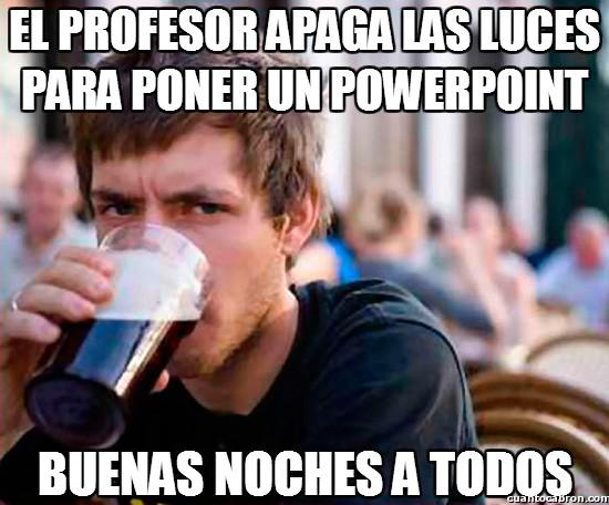 Universitario_experimentado - El profesor apaga las luces para poner un powerpoint