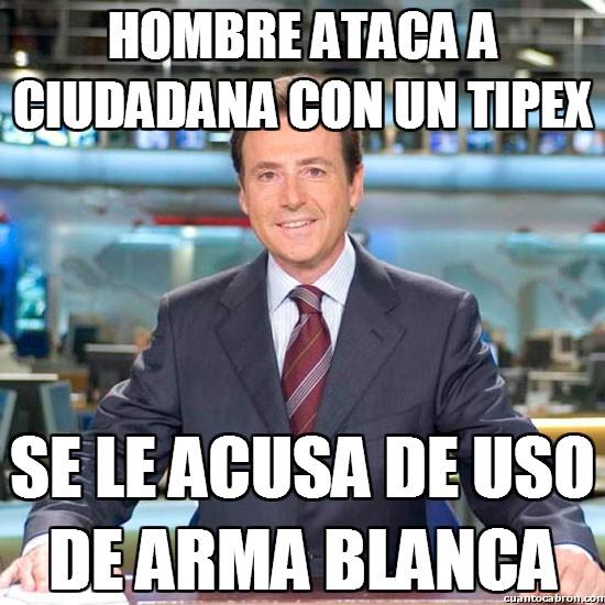 Meme_matias - Hombre ataca a ciudadana con un tipex