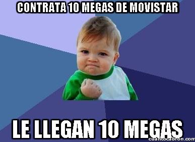 Success_kid - Contrata 10 megas de Movistar
