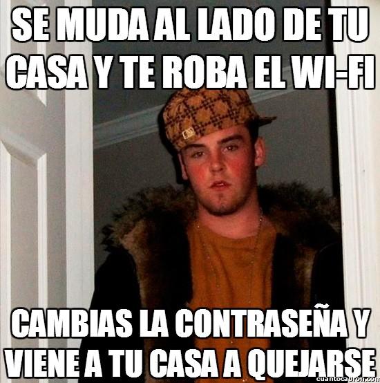 Scumbag_steve - Se muda al lado de tu casa y te roba el Wi-fi
