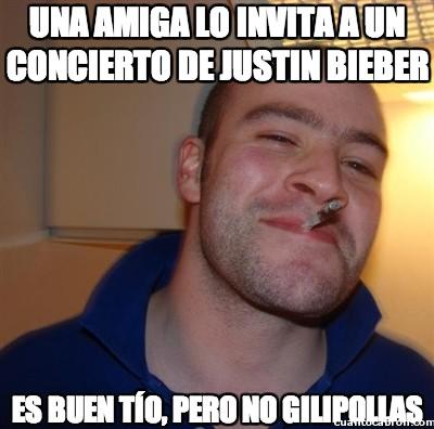 Good_guy_greg - Una amiga lo invita a un concierto de Justin Bieber