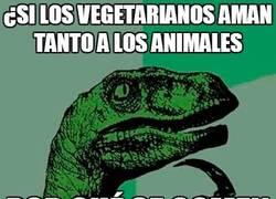 Enlace a Si los vegetarianos aman tanto a los animales...