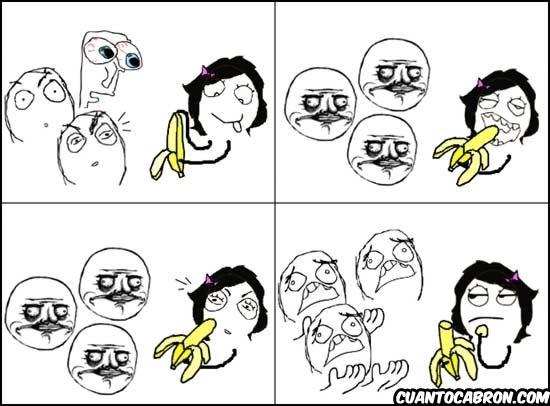 Me_gusta - El plátano da rienda suelta a la imaginación de los tíos