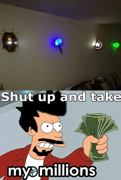 Fry - Luz de noche de los Vengadores