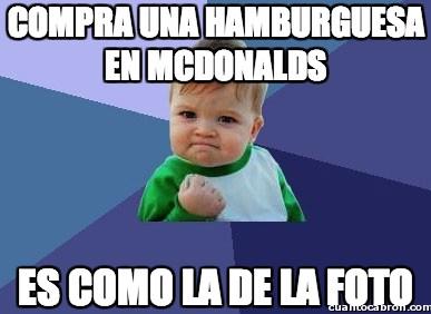 Success_kid - Compra una hambuerguesa en McDonalds