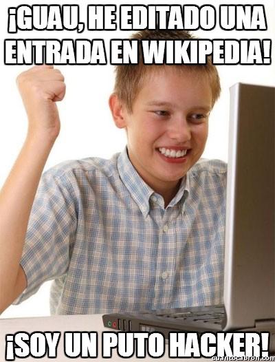 Novato_internet - ¡Guau, he editado una entrada en wikipedia!