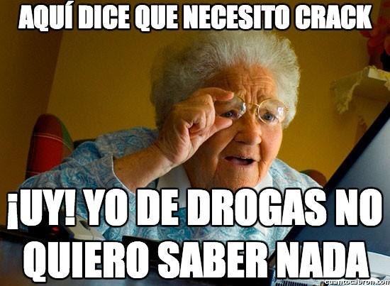 Abuela_sorprendida_internet - Aquí dice que necesito crack
