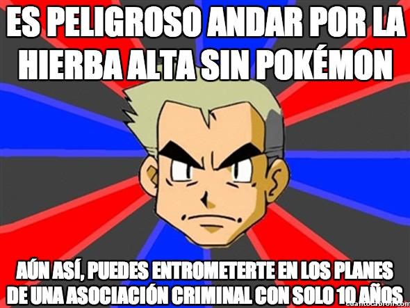 hierba alta,Lògica Pokémon,muy sorprendente,Profesor Oak,sorprendente