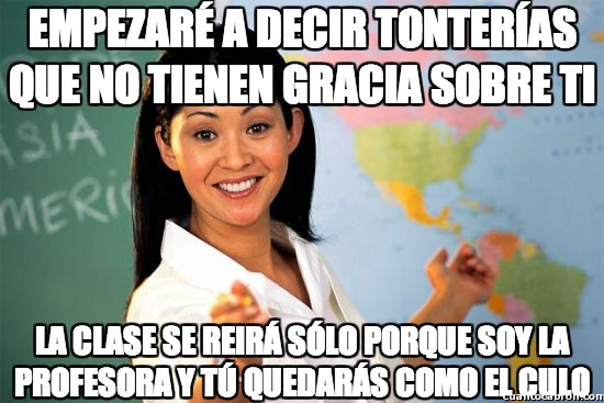 Profesora_cabrona - Cuando los profesores te pillan manía