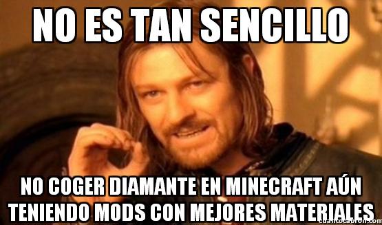Boromir - La importancia del diamante en Minecraft