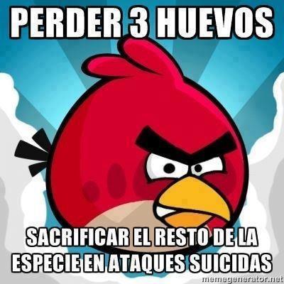 Meme_otros - Angry birds y su lógica